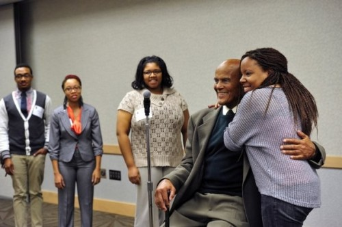 Harry Belafonte with university students