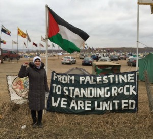 Palestinian support for Standing Rock Sioux protesting DAPL.