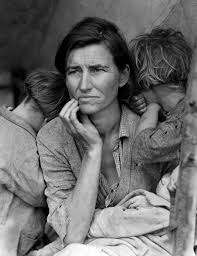 Dust Bowl migrant with children